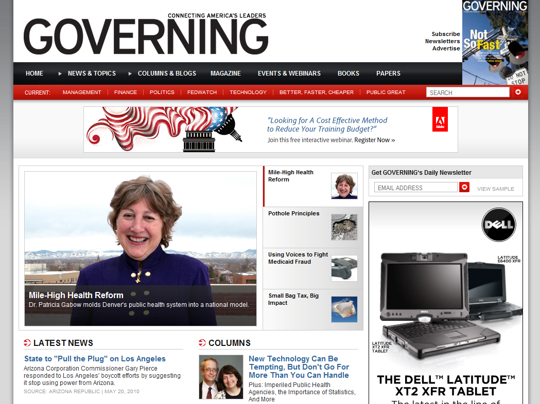 Governing Home Page